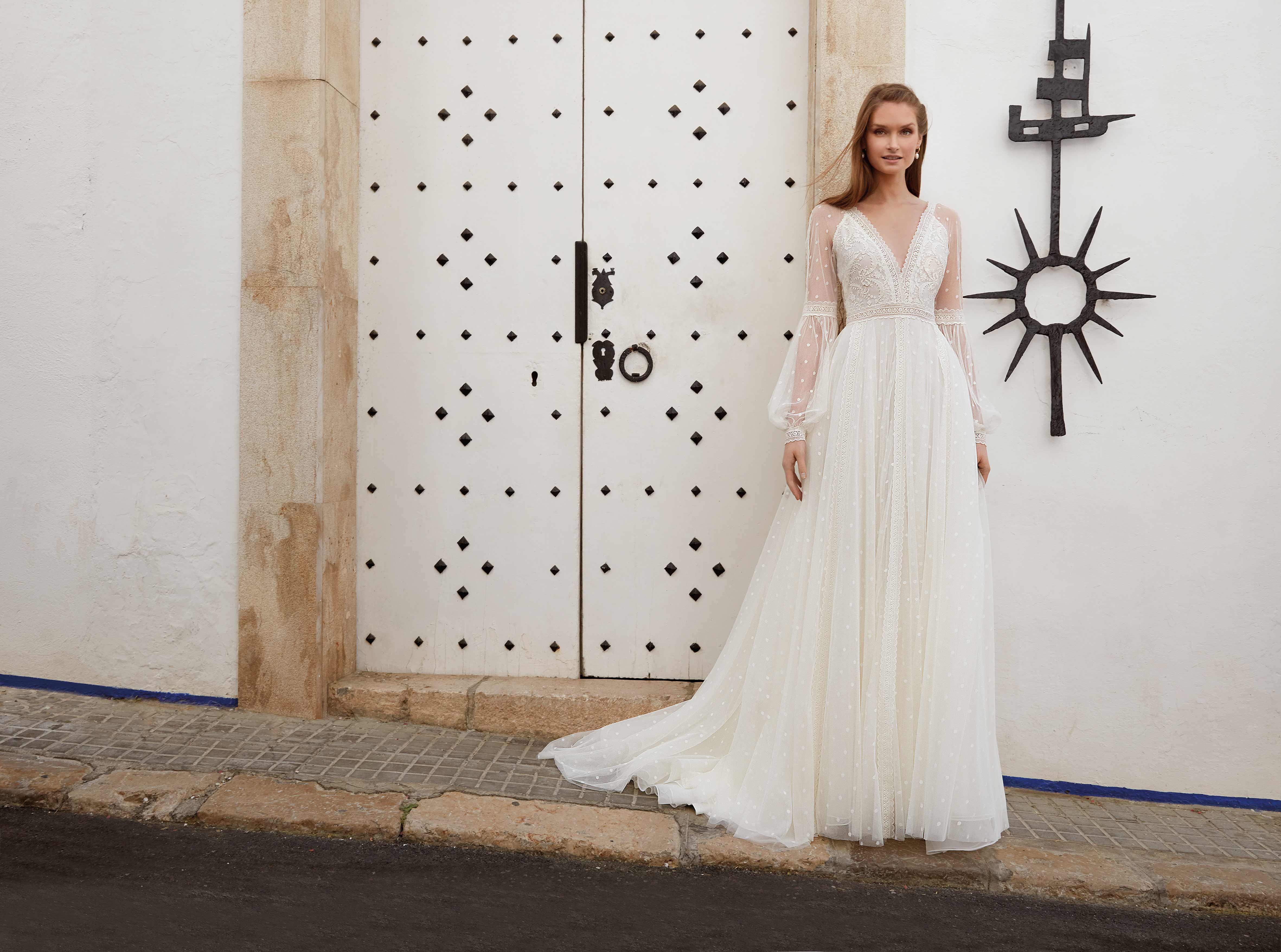 vestido novia bohemio en valencia